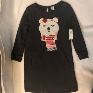 NWT Old Navy 5T Long-Sleeved Dress with Pockets